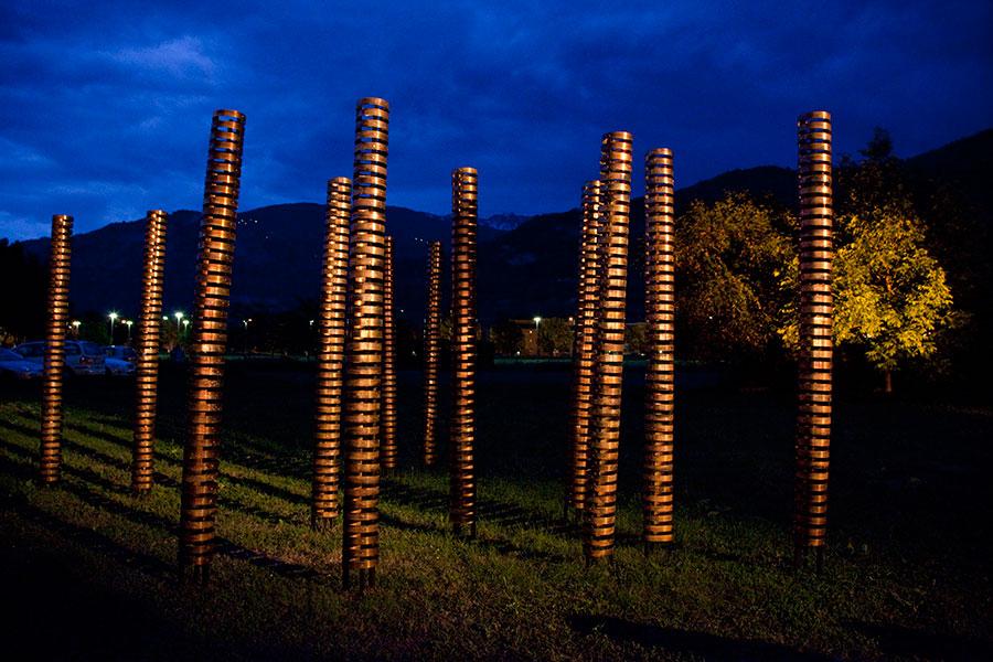 Bosc de bambú, 2009 Copper 250 x 25 cm.