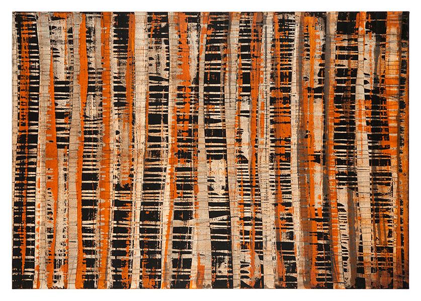 Ifitry II, 2012 acrylic on cotton 114 x 162 cm.