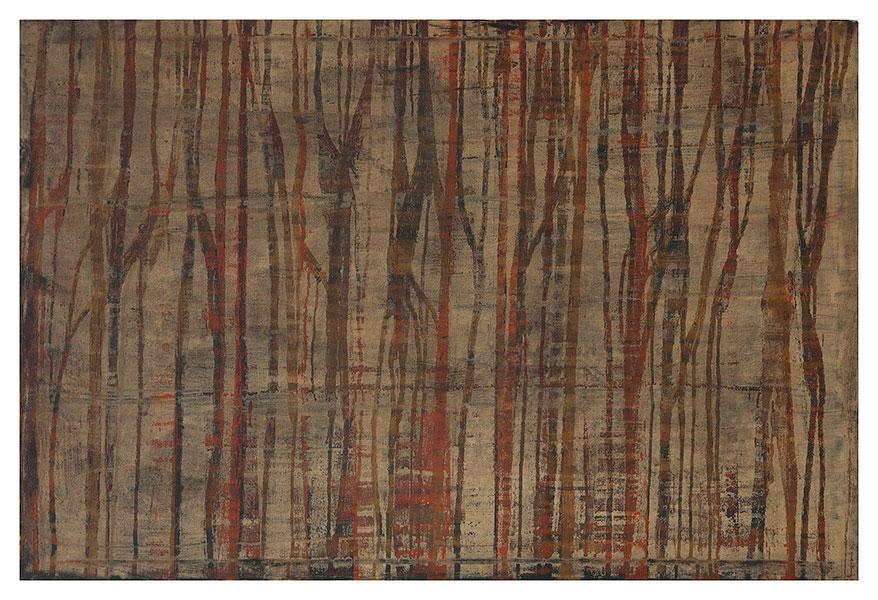 Ancient landscape, 2012 acrylic on cotton 75 x 112 cm.