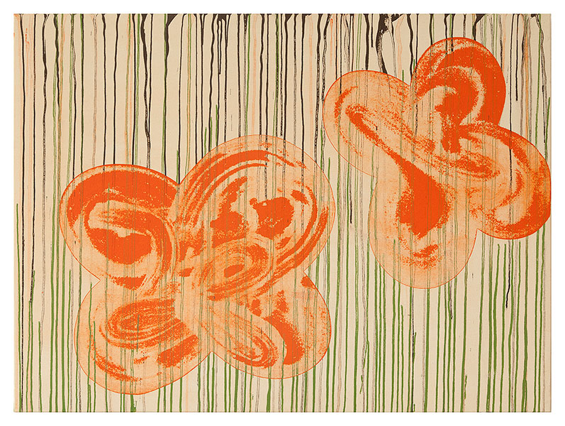 Fleurs II, 2012 acrylic on cotton 97 x 130 cm.
