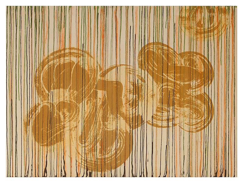 Fleurs I, 2012 acrylic on cotton 97 x 130 cm.