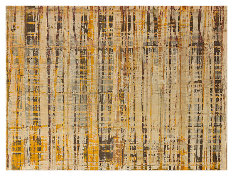 Whedat and barley, 2012 acrylic on cotton 97 x 130 cm.