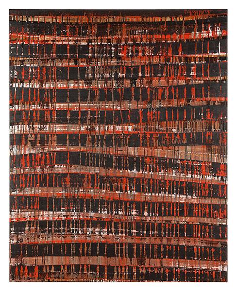 Ifitry III, 2012 acrylic on cotton 162 x 130 cm.