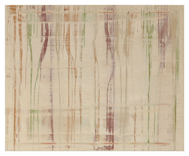 Forest and cold I, 2012 acrylic on cotton 97 x 130 cm.