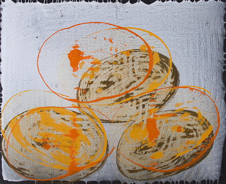 Nihon, 2010 acrylic on canvas, 81 x 100 cm.